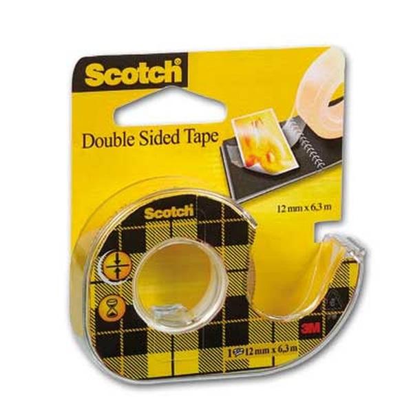 Scotch 136D 12mmx6,3m kétoldalas ragasztószalag - 1