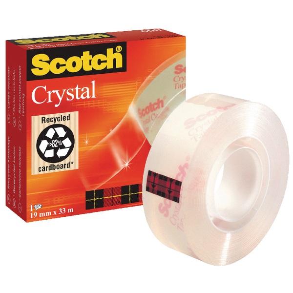 Scotch Crystal Clear 19mmx33m ragasztószalag - 1