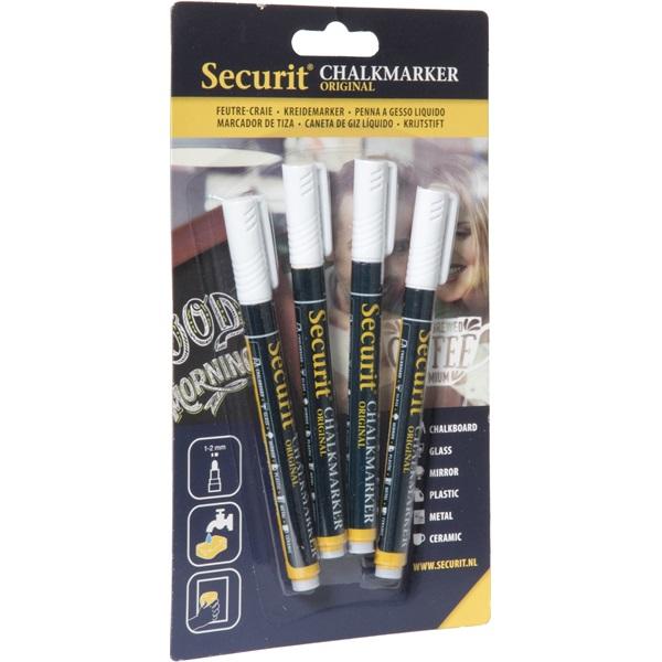 Securit 4db-os fehér krétamarker - 1
