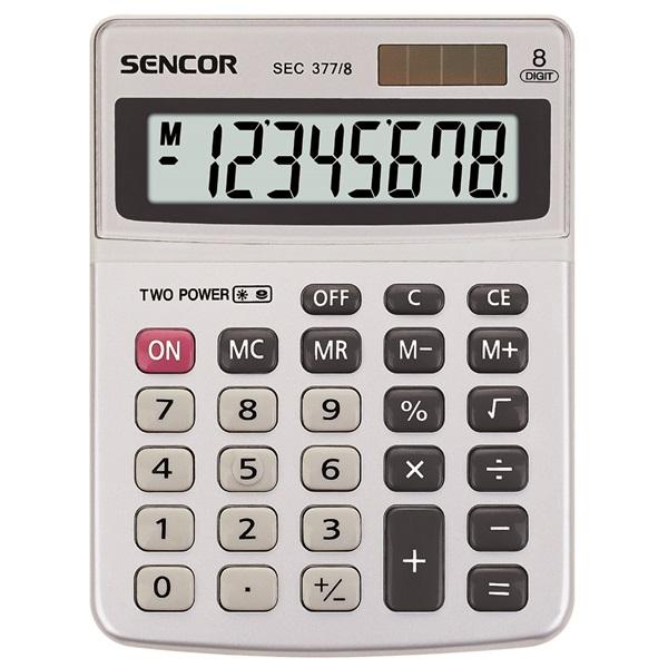 Sencor SEC 377/8 Asztali számológép - 1