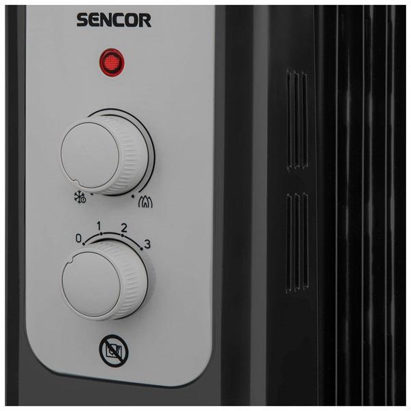 Sencor SOH 3309BK 9 tagú fekete olajradiátor - 3