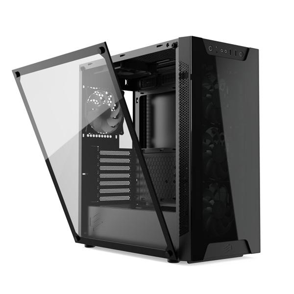 SilentiumPC Armis AR6X EVO TG ARGB Fekete (Táp nélküli) ablakos E-ATX ház - 24