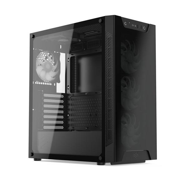 SilentiumPC Armis AR6X EVO TG ARGB Fekete (Táp nélküli) ablakos E-ATX ház - 3