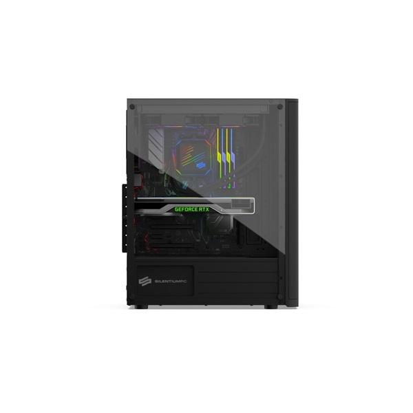SilentiumPC Ventum VT2 TG Fekete (Táp nélküli) ablakos ATX ház - 8