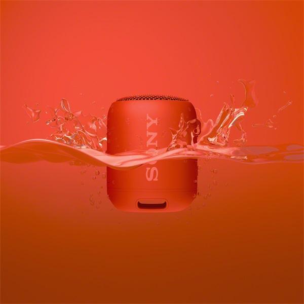 Sony SRSXB12R piros Bluetooth hangszóró - 5