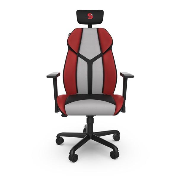SPC Gear EG450 piros / szürke ergonómikus gamer szék - 1