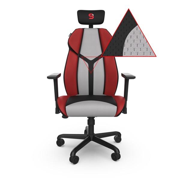 SPC Gear EG450 piros / szürke ergonómikus gamer szék - 2