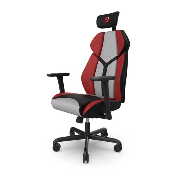 SPC Gear EG450 piros / szürke ergonómikus gamer szék - 3