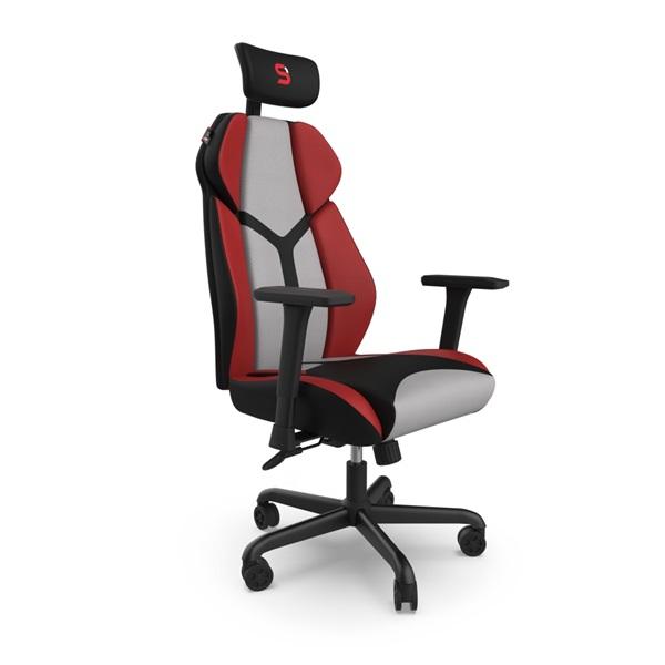 SPC Gear EG450 piros / szürke ergonómikus gamer szék - 4