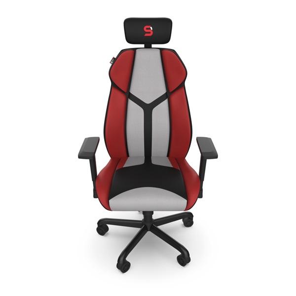 SPC Gear EG450 piros / szürke ergonómikus gamer szék - 5