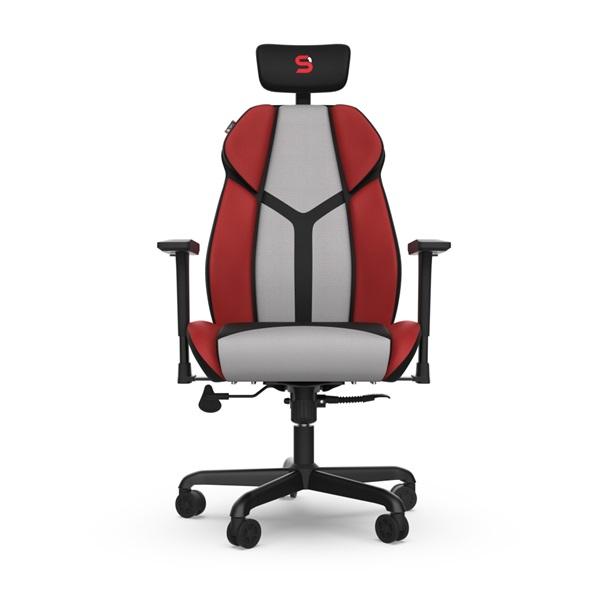 SPC Gear EG450 piros / szürke ergonómikus gamer szék - 6