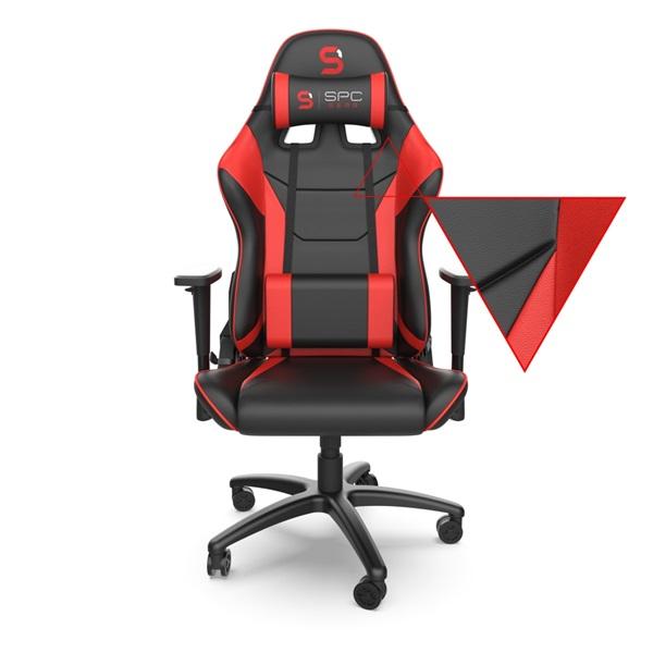 SPC Gear SR300 V2 piros gamer szék - 3