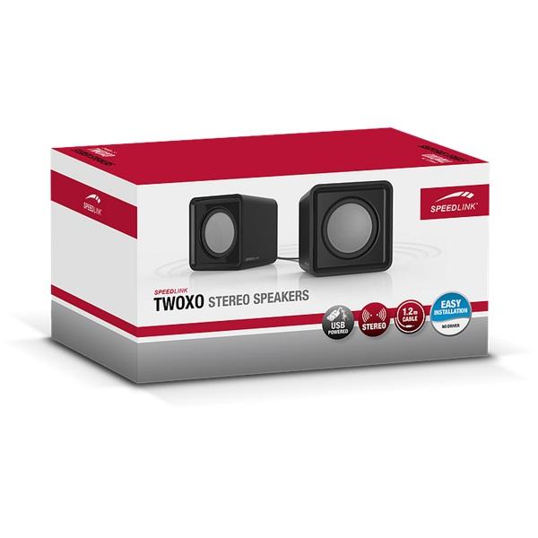 Speedlink TWOXO Stereo Spekers (SL-810004-BK) - 4