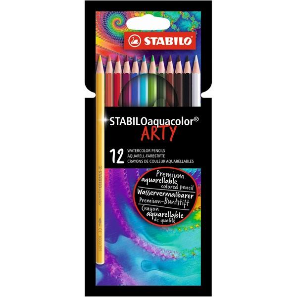 Stabilo ARTY Aquacolor 12db-os vegyes színű színes ceruza - 1