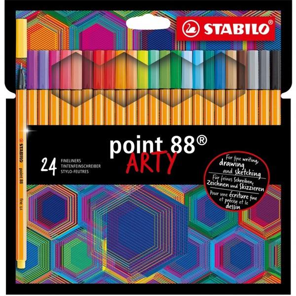 Stabilo ARTY Point 88 24db-os vegyes színű tűfilc készlet - 1