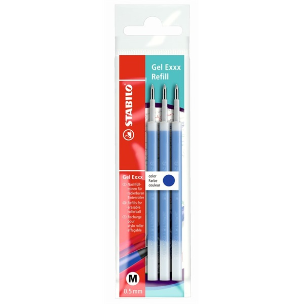 Stabilo Gel Exxx 3db-os kék tollbetét - 1