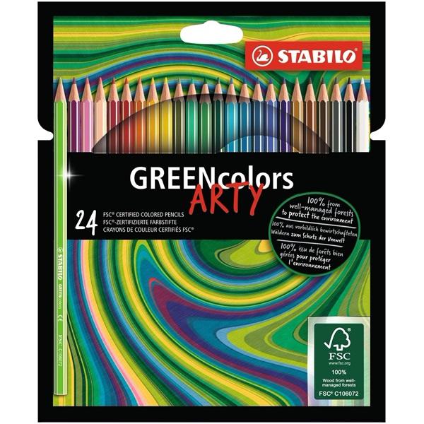 Stabilo Green colors Arty 24db-os vegyes színű színes ceruza - 1