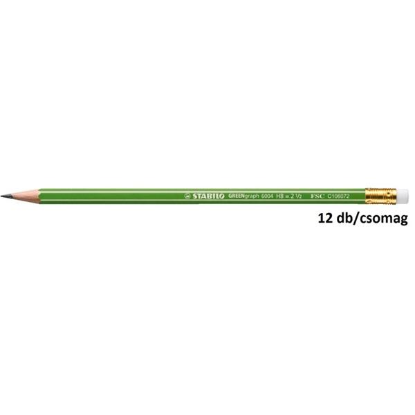 Stabilo Greengraph HB radíros 12db-os grafitceruza - 1