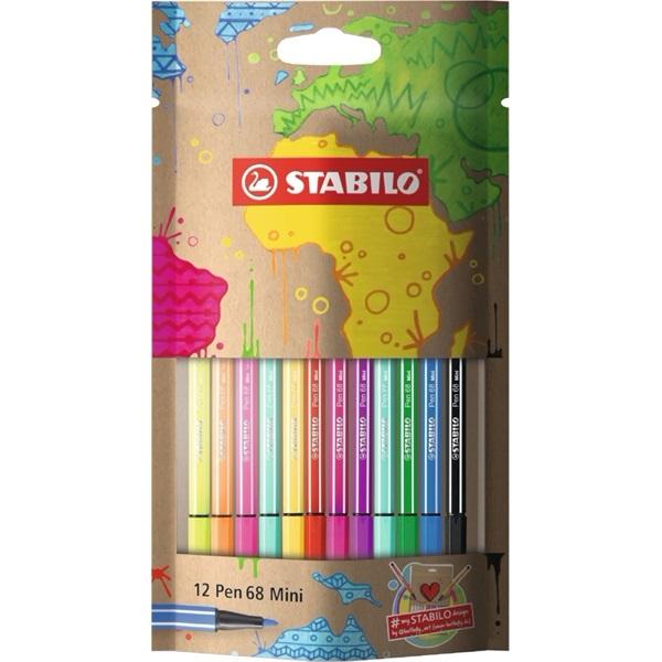 Stabilo mySTABILOdesign Pen 86 Mini 12db-os vegyes színű tűfilc készlet - 1