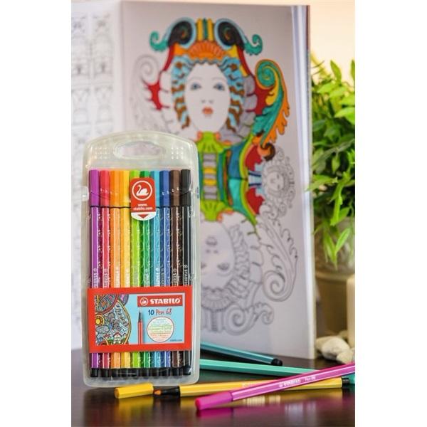 Stabilo Pen 68 10db-os vegyes színű rostirón készlet - 2