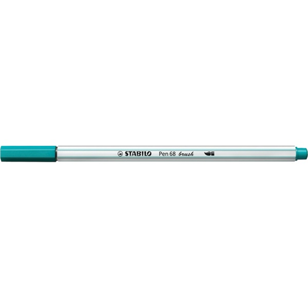 Stabilo Pen 68 brush türkizkék ecsetfilc - 1