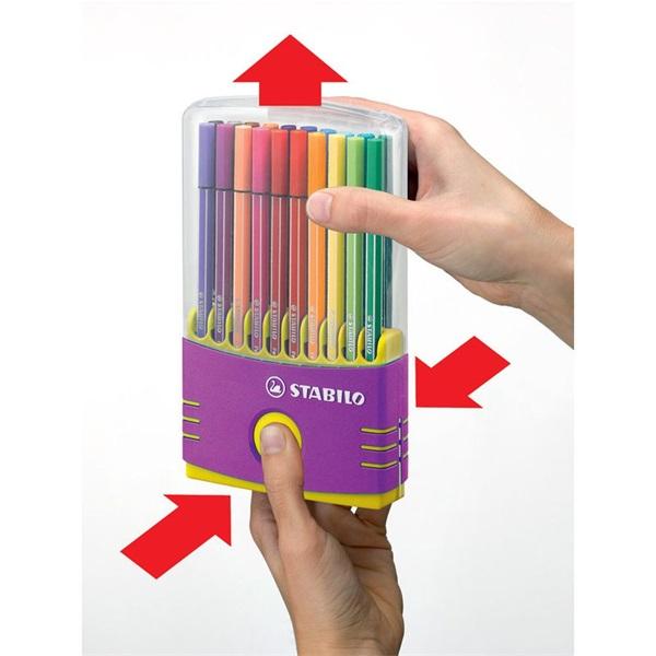 Stabilo Pen 68 ColorParade 20db-os lila filctoll készlet - 2