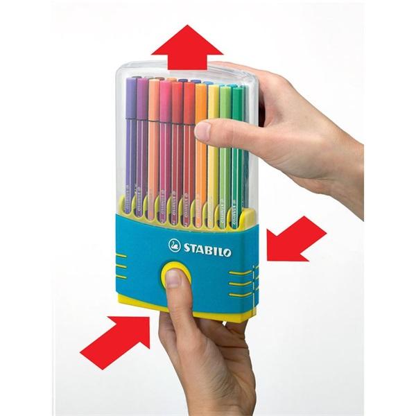 Stabilo Pen 68 ColorParade 20db-os türkiz filctoll készlet - 2