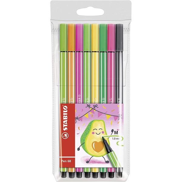 Stabilo Pen 68 Living Colors Avokádó 8db-os vegyes színű rostirón készlet - 1