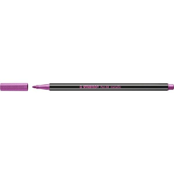Stabilo Pen 68 metallic metál rózsaszín filctoll - 2
