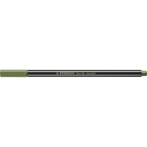 Stabilo Pen 68 metallic metál világoszöld filctoll - 1