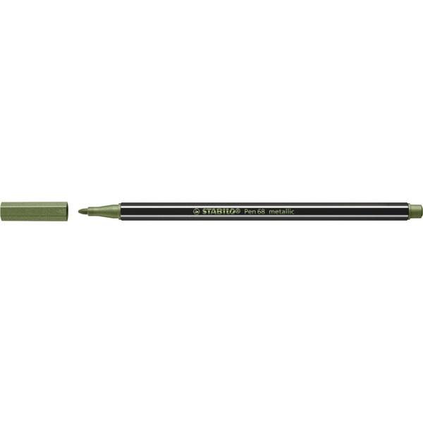 Stabilo Pen 68 metallic metál világoszöld filctoll - 2