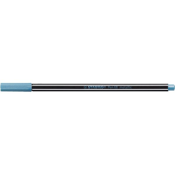 Stabilo Pen 68 metallic metálkék filctoll - 1