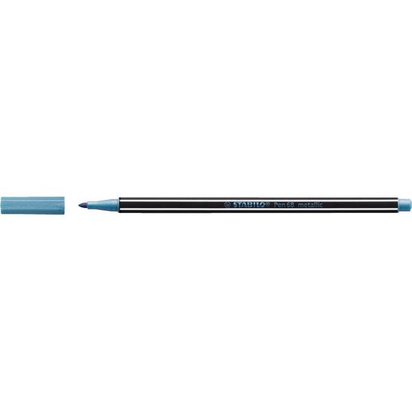 Stabilo Pen 68 metallic metálkék filctoll - 2