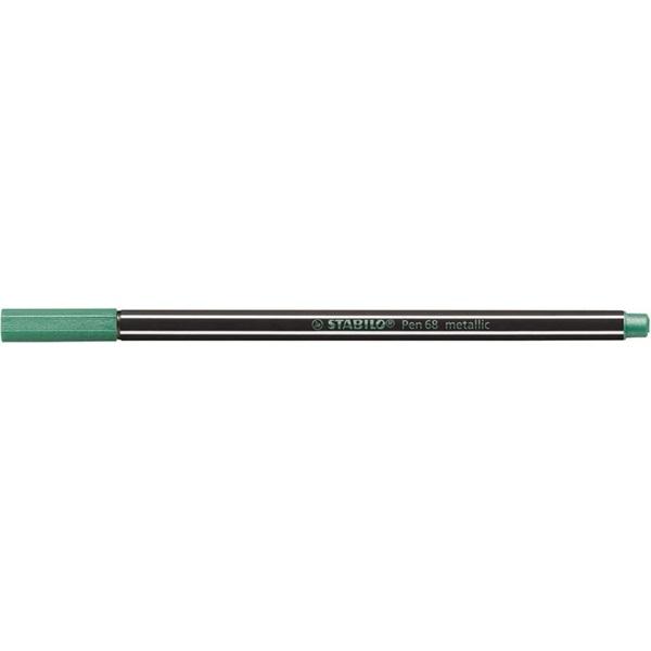 Stabilo Pen 68 metallic metálzöld filctoll - 1