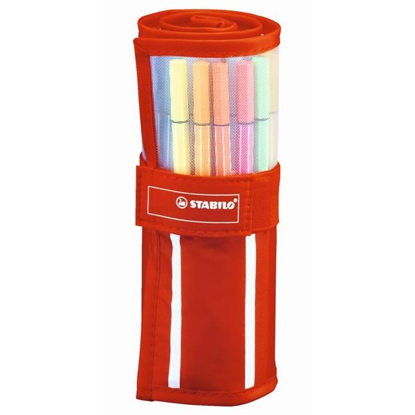 Stabilo Pen 68 textil tartós 30db-os vegyes színű filctoll készlet - 2