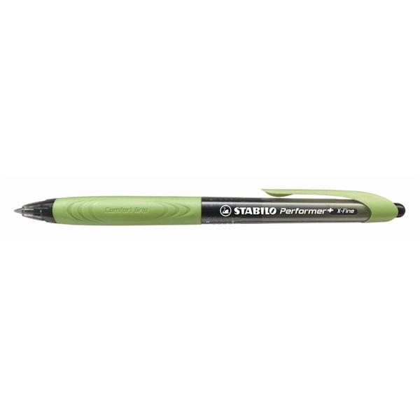 Stabilo Performer + 0,5mm XF fekete/világoszöld golyóstoll - 1