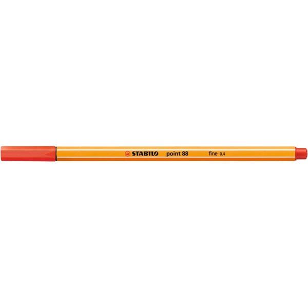 Stabilo Point 88/48 világos piros tűfilc - 1