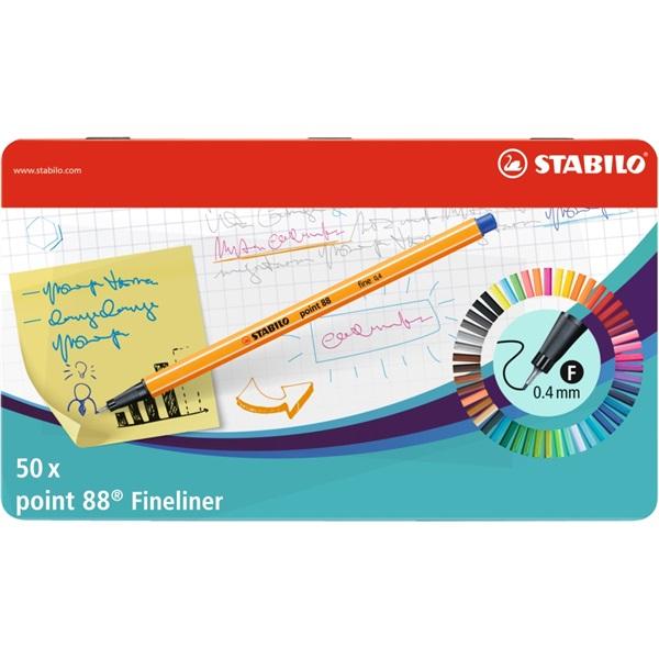 Stabilo Point 88 50db-os vegyes színű tűfilc készlet - 1