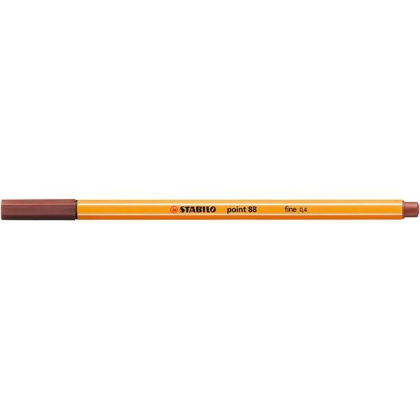 Stabilo Point 88/75 vörösbarna tűfilc - 1