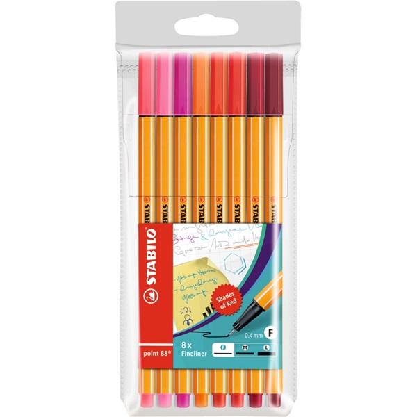 Stabilo Point 88 8db-os vegyes színű tűfilc készlet - 1