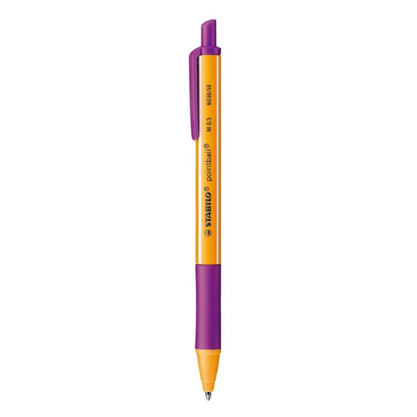 Stabilo pointball nyomógombos lila golyóstoll - 1