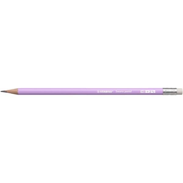 Stabilo Swano HB radíros pasztel lila grafitceruza - 1