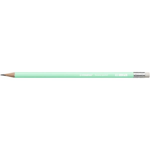 Stabilo Swano HB radíros pasztell zöld grafitceruza - 1