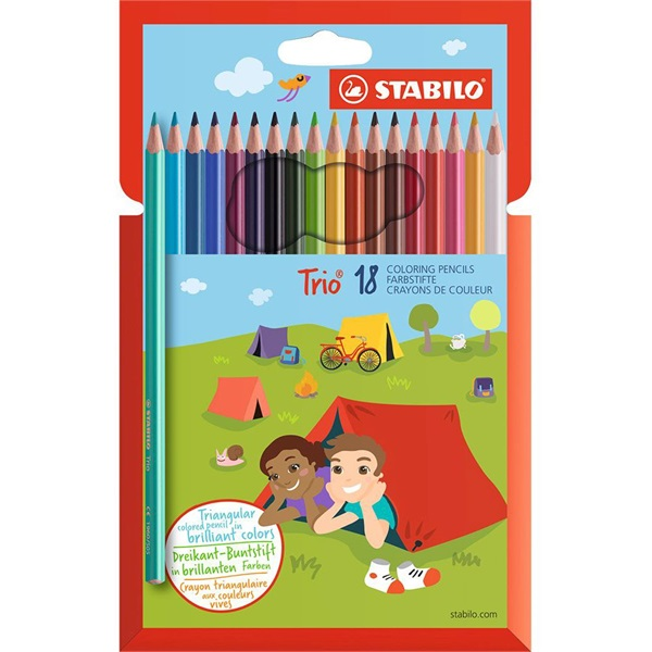 Stabilo Trio 18db-os vegyes színű színes ceruza - 1