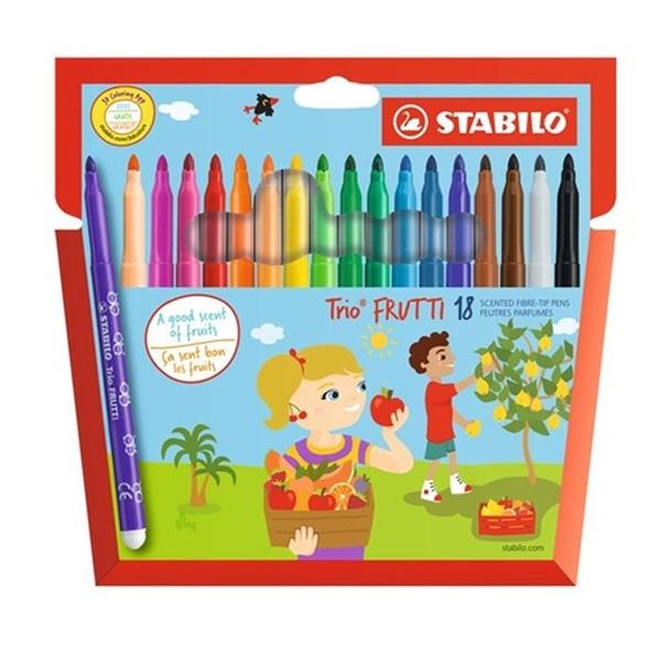 Stabilo Trio Frutti illatos 18db-os vegyes színű filctoll készlet - 1