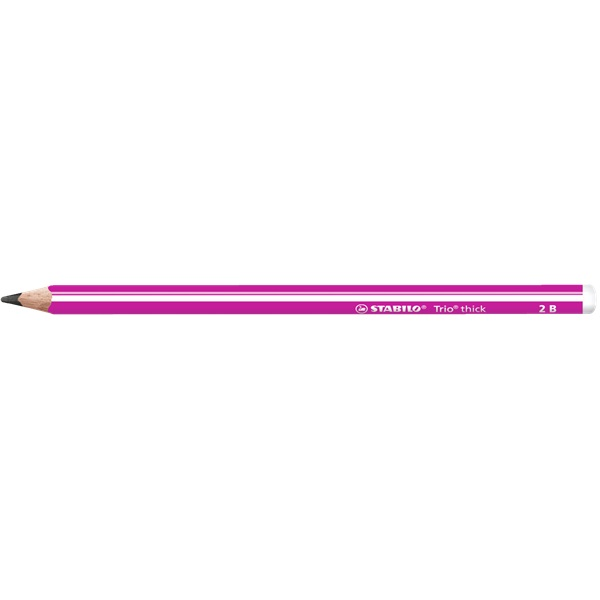 STABILO Trio thick 2B vastag pink grafitceruza - 1