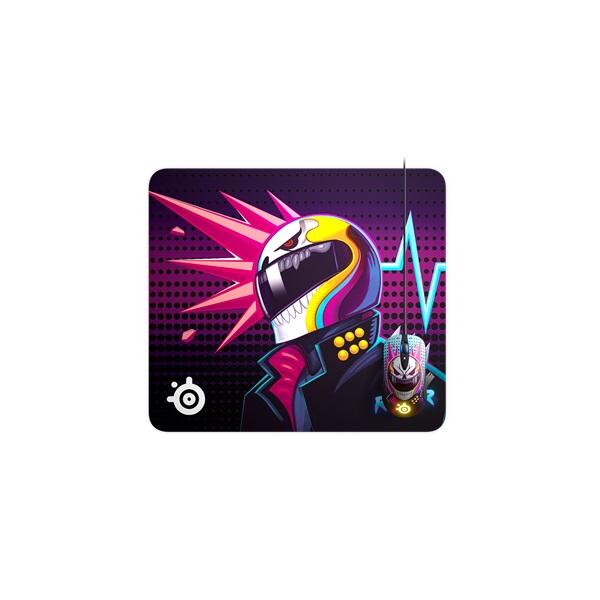 SteelSeries QCK Large Neon Rider Edition gamer egérpad - 3