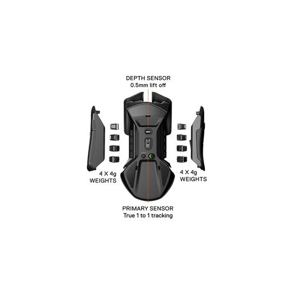 SteelSeries Rival 650 wireless fekete optikai gamer egér - 2