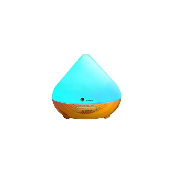 Taotronics TT-AD002 ultrahangos LED fénnyel fa mintázatú világosbarna illóolaj párásító - 1