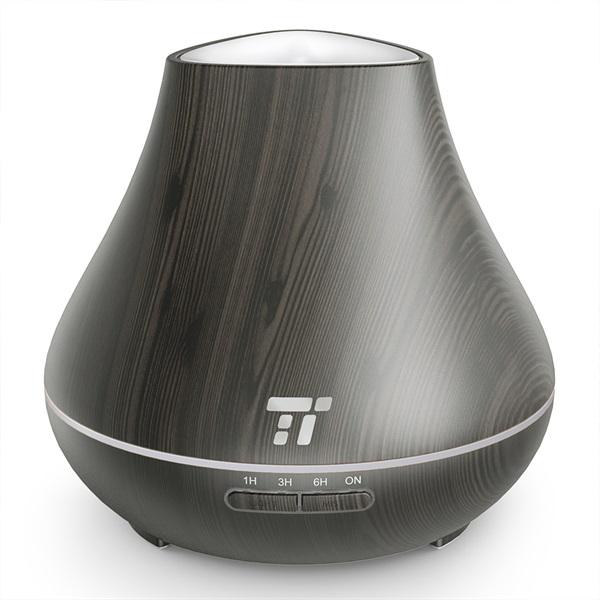 Taotronics TT-AD004 sötétbarna fa mintázatú ultrahangos illóolaj párásító LED fénnyel - 6